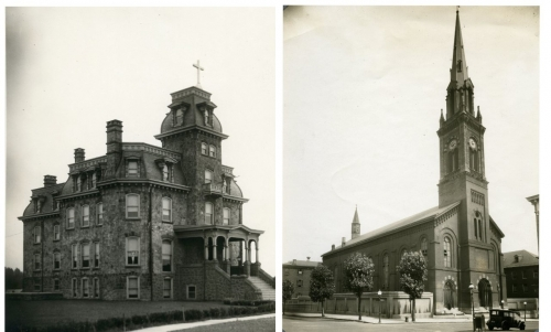 L - R: St. John the Baptist Original House (Manayunk, PA); St. James Church (Baltimore, MD)